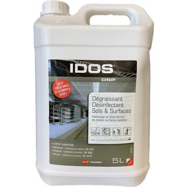 IDOS DSP - Détergent dégraissant désinfectant - Sols et surfaces