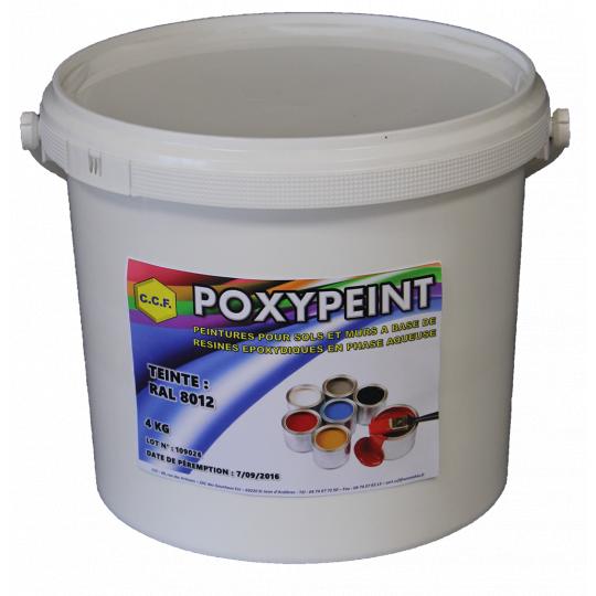 POXYPEINT - peintures pour sols et murs à base de résines époxydiques en phase aqueuse