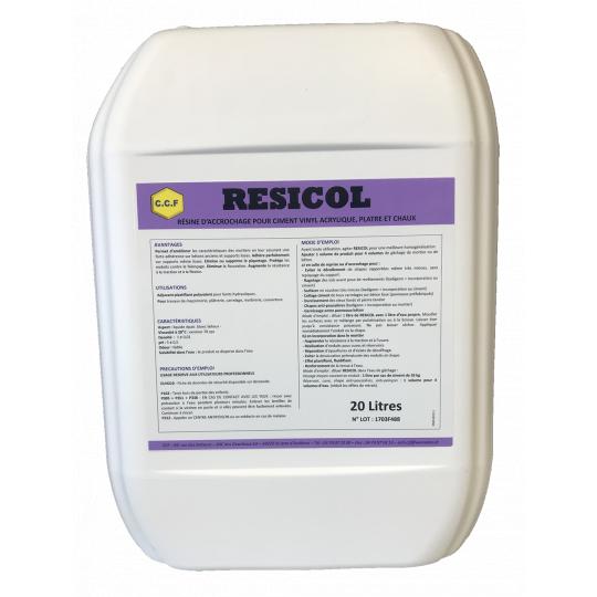 RESICOL - résine d'accrochage pour ciment, vynil, acrylique, plâtre et chaux