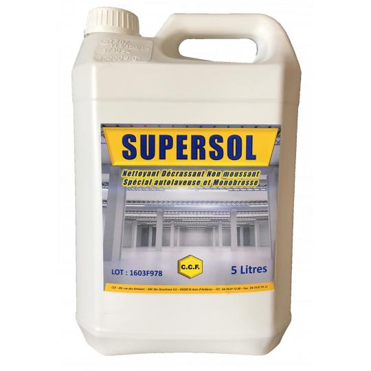 SUPERSOL - nettoyant, décrassant non moussant spécial autolaveuse et monobrosse