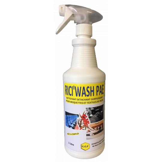 RICI'WSH PAE - Nettoyant, détachant surpuissant pour moquettes et textiles au ricin
