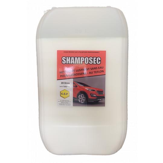 SHAMPOSEC - Nettoyant lustrant sans eau pour carrosserie - au téflon