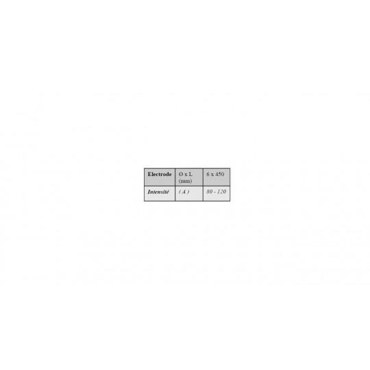 ELECTRODESHRT63 - Electrode tubulaire pour rechargement dur