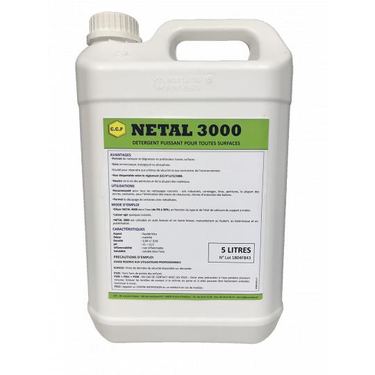 NETAL 3000 - détergent puissant pour toutes surfaces