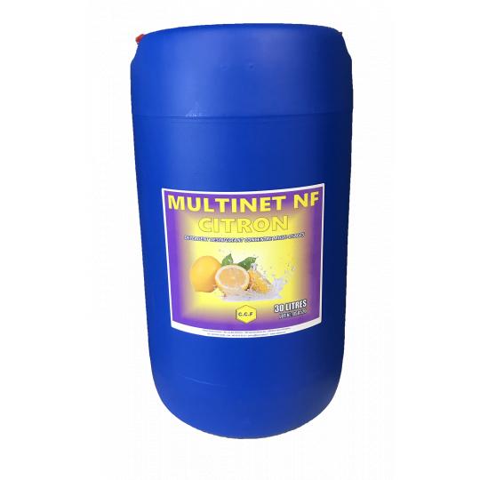 MULTINET NF - détergent désinfectant concentré multi-usages - citron
