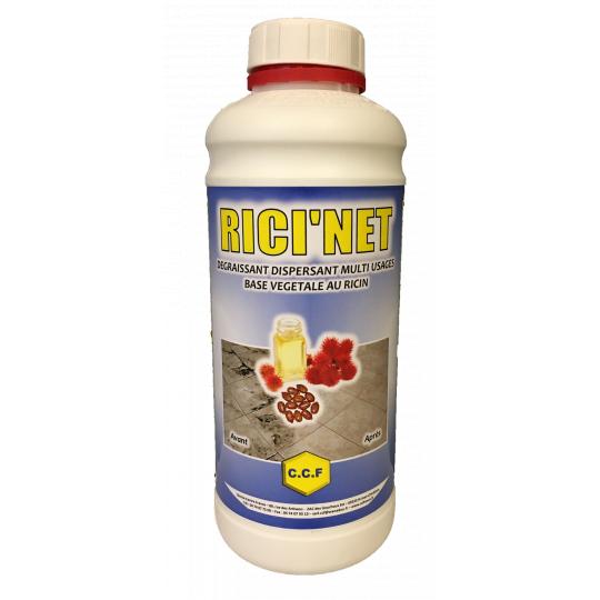 RICI'NET - dégraissant, dispersant multi usages base végétale au ricin - 1 L