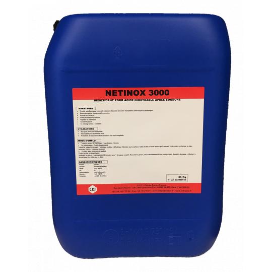 NETINOX 3000 - désoxydant pour acier inoxydable après soudure