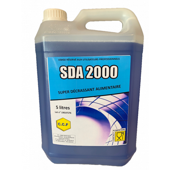 S D A 2000 - Super décrassant alimentaire